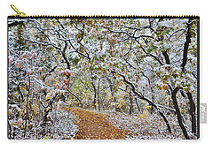 Snow Greets Autumn Carry-all Pouch