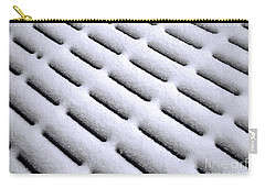 Carry-all Pouch featuring the photograph Snow Patterns by Jon Burch Photography