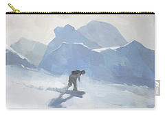 Snowboarding At Les Arcs Carry-all Pouch