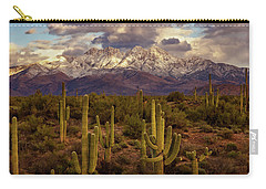 Carry-all Pouch featuring the photograph Snowy Dreams by Rick Furmanek