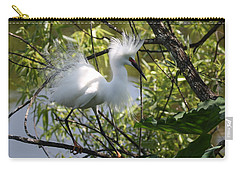 Snowy Egret 4031202 Carry-all Pouch