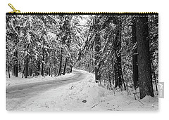 Snowy Forest Road In Winter Carry-all Pouch