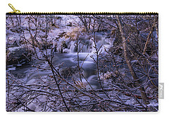 Snowy Forest With Long Exposure Carry-all Pouch