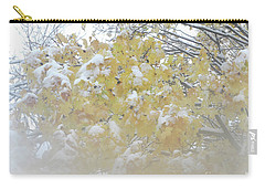 Carry-all Pouch featuring the photograph Snowy Maple by PJ Boylan