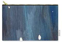 Carry-all Pouch featuring the painting Snowy Night by Maria Langgle