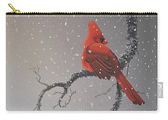 Snowy Perch Carry-all Pouch