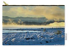 Snowy Shoreline Sunrise Carry-all Pouch