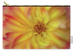 Carry-all Pouch featuring the photograph Soft Curves Dahlia by Mary Jo Allen