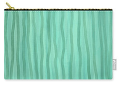 Soft Green Lines Carry-all Pouch