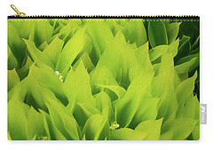 Carry-all Pouch featuring the photograph Soft Green by Mike Braun