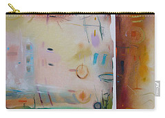 Carry-all Pouch featuring the drawing Southwestern Vista by Camille Rendal