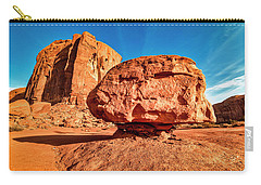 Carry-all Pouch featuring the photograph Spearhead Mesa's Balancing Rock by Andy Crawford