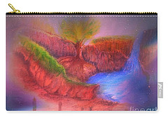 Carry-all Pouch featuring the mixed media Spec In The Galaxy by Sabine ShintaraRose