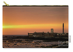 Carry-all Pouch featuring the photograph Spectacular Sunset On Saint Sebastian Castle Cadiz Spain by Pablo Avanzini