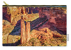 Carry-all Pouch featuring the photograph Spider Rock by Andy Crawford