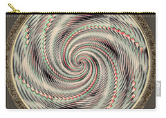 Carry-all Pouch featuring the photograph Spinning A Design For Decor And Clothing by John M Bailey