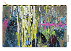 Carry-all Pouch featuring the painting Splash Stripe by John Jr Gholson