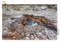 Carry-all Pouch featuring the photograph Splashing Hot Water Drops In Yellowstone by Tatiana Travelways