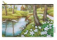 Spring At Creek Carry-all Pouch