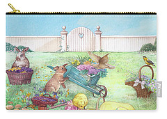 Spring Bunnies, Chick, Birds Carry-all Pouch