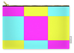 Carry-all Pouch featuring the photograph Squares Of Cyan And Yellow And Magenta by Bill Swartwout Fine Art Photography