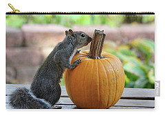 Squirrel And Pumpkin Carry-all Pouch