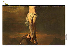 St Francis At The Foot Of The Cross Carry-all Pouch
