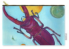 Stag Beetle In Space Carry-all Pouch