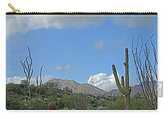 Carry-all Pouch featuring the photograph Staged Beauty  by Lynda Lehmann