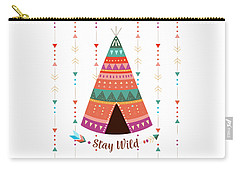 Stay Wild - Boho Chic Ethnic Nursery Art Poster Print Carry-all Pouch