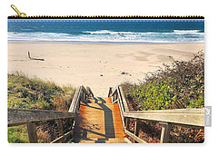 Carry-all Pouch featuring the photograph Steps To The Beach by Brian Eberly