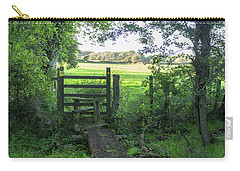 Stile Between Fields In Britain Carry-all Pouch