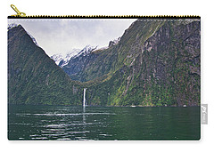 Carry-all Pouch featuring the photograph Stirling Falls 2 - Milford Soud - New Zealand by Steven Ralser