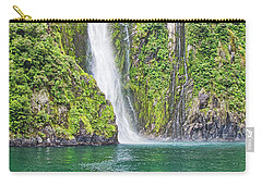 Carry-all Pouch featuring the photograph Stirling Falls - Milford Soud - New Zealand by Steven Ralser