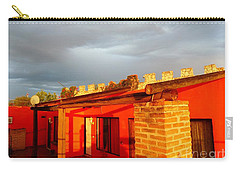 Carry-all Pouch featuring the photograph Storm Brewing, Sun Setting by Rosanne Licciardi