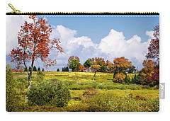 Carry-all Pouch featuring the photograph Storm Clouds Over Country Landscape by Christina Rollo