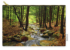 Carry-all Pouch featuring the photograph Stream Rages Horizontal Format by Raymond Salani III