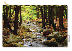 Carry-all Pouch featuring the photograph Stream Rages Vertical Format by Raymond Salani III