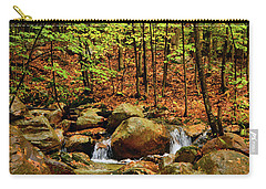 Carry-all Pouch featuring the photograph Stream Rages In Ma by Raymond Salani III