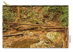 Carry-all Pouch featuring the photograph Stream Waterfalls by Meta Gatschenberger