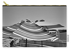 Striped Umbrellas In Black And White Carry-all Pouch