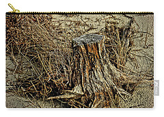 Stump At The Beach Carry-all Pouch