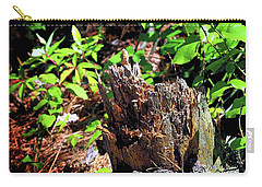 Carry-all Pouch featuring the photograph Stumped On Assateague Island by Bill Swartwout Fine Art Photography