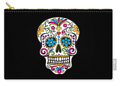 Sugar Skull Day Of The Dead Carry-all Pouch