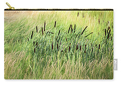 Summer Cattails In Field Of Grass - Carry-all Pouch