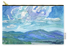 Carry-all Pouch featuring the painting Summer Clouds Landscape  by Dobrotsvet Art