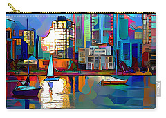 Carry-all Pouch featuring the digital art Summer In The City by Pennie McCracken