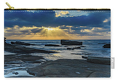Sun Rays Burst Through The Clouds - Seascape Carry-all Pouch