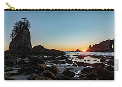 Sunburst At The Beach Carry-all Pouch