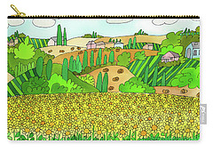 Sunflower French Countryside Carry-all Pouch